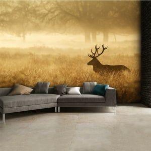 Autumn Stag landscape Wall Mural | 315cm x 232cm