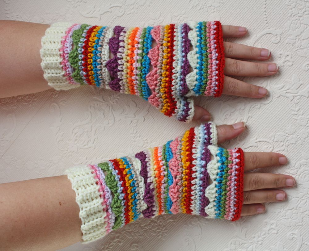 Ravelry: natemmab\'s Boho Fingerless Gloves 2 | Knit/Crochet ...