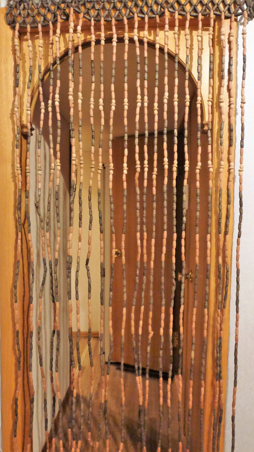 Vintage Wood Curtain Door Beads Beaded Curtains Beaded Door