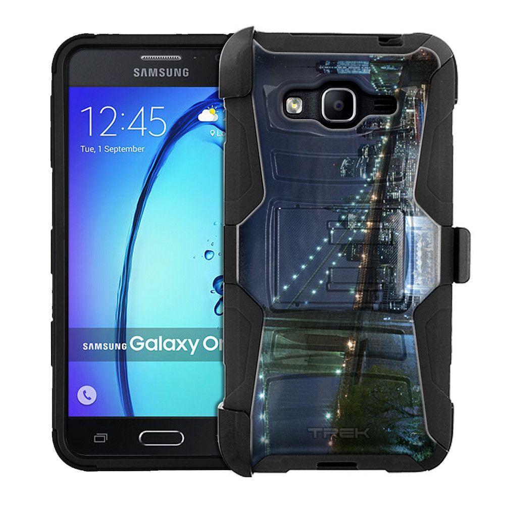 Samsung Galaxy On5 Armor Hybrid Case - Brooklyn Bridge at Night