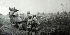 World War 1 - the taking of the German lines Feuillaucourt, east of Clery 1916 (World War 1 - the taking of the German lines Feuillaucourt, east of…