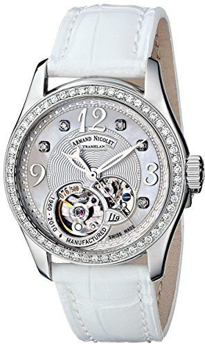 Amazon.com Armand Nicolet Women's 9653D-AN-P953BC8 LL9 Limited Edition Stainless Steel Classic Automatic With Diamonds Watch on shopstyle.com