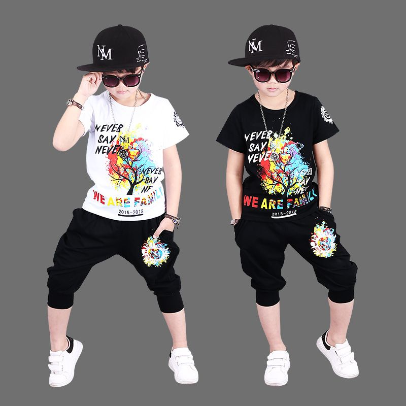 USA Boutique Toddler Kids Boy Tops T-shirt Pants Halloween Outfits Set Clothes