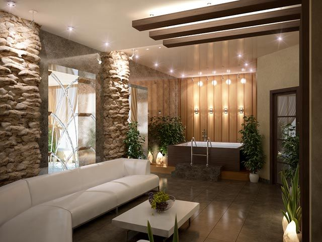 interior design spa sitting area bath Inspirational pictures