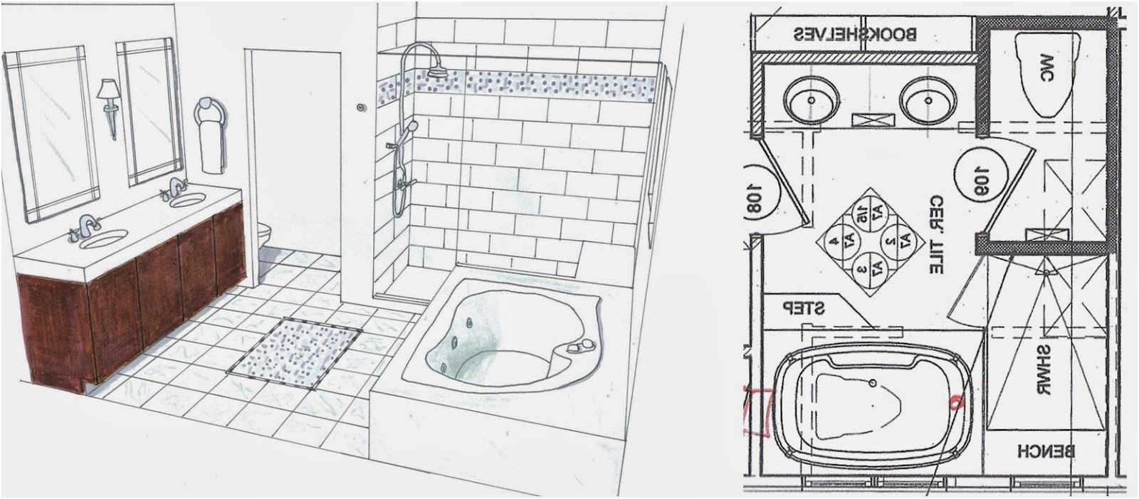 New Design A Bathroom Floor Plan