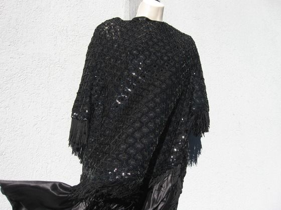 A Sequined Shawl, Cover up or Poncho Very Dressy $15.00