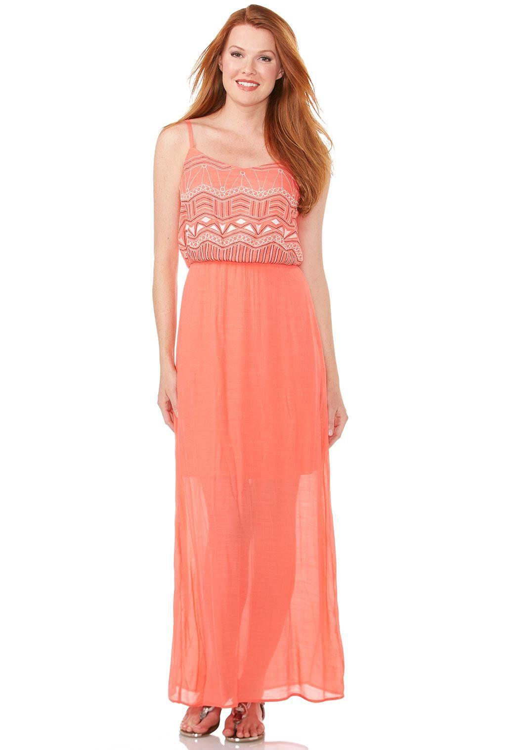 blouson boho maxi dress dresses cato fashions | cool & casual