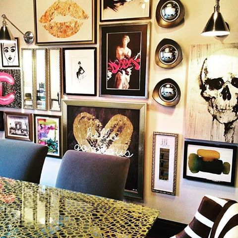 How Rock And Roll Is This Gallery Wall Is Designed Interior