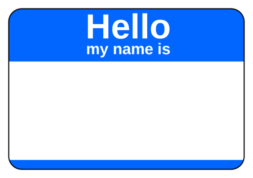 Standard Blue Corporate Name Tag Template Name Tag Templates Name Tags Names