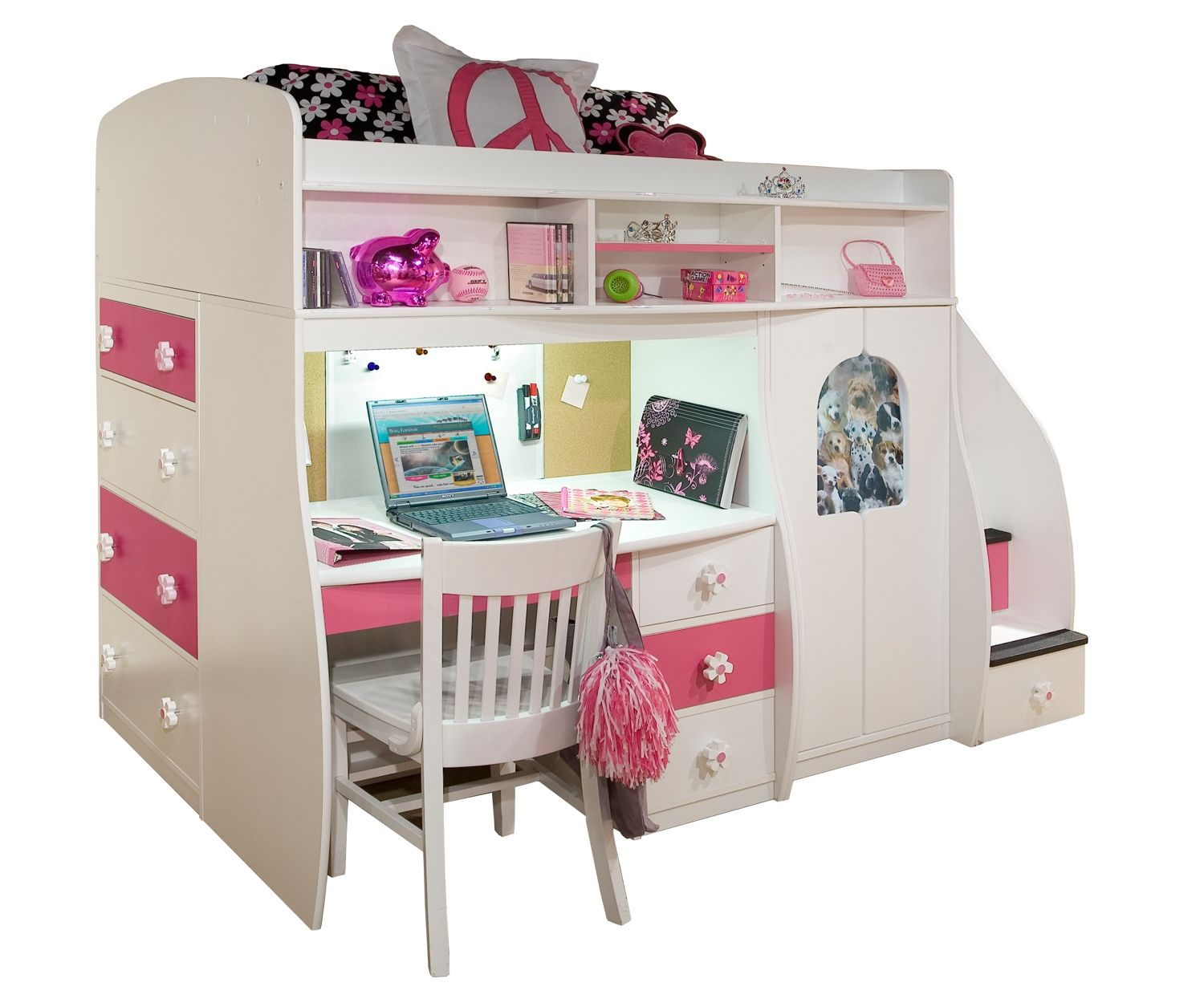 Loft bed with desk and stairs   Buy Berg Furniture Play and Study Loft Bed with staircase  Berg