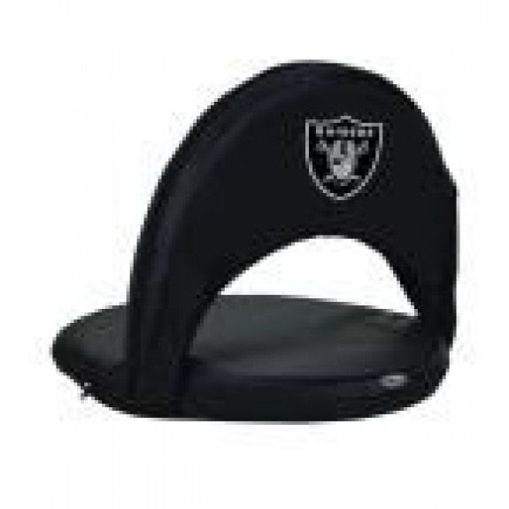 Photo of Picknickzeit Oniva Oakland Raiders schwarzer Patio-Sportstuhl mit digitalem Logo #re …, #BLACK …