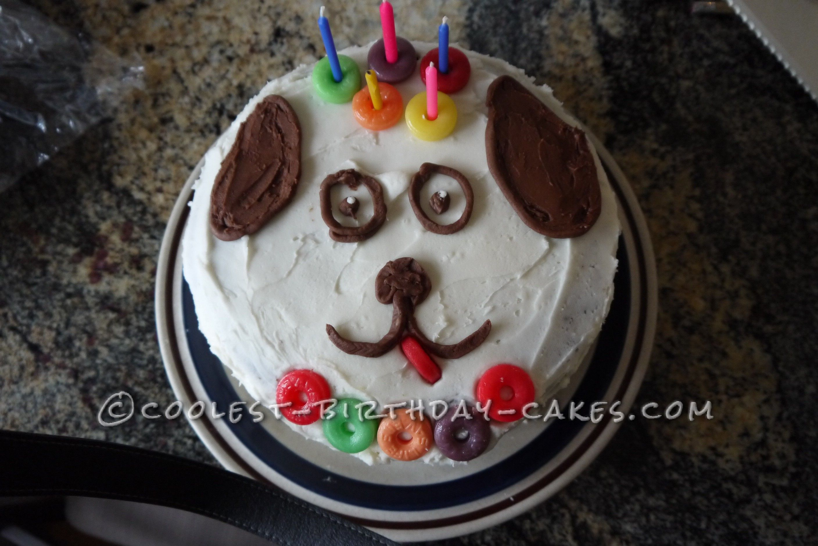 Cute and Easy Dog Face Cake Birthday cakes Birthdays and Cake