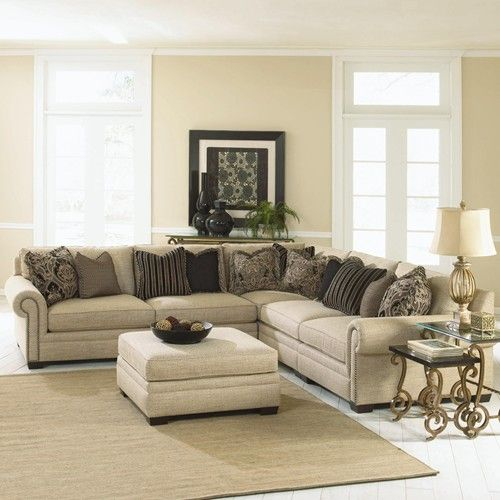 Grandview Traditional Sectional Sofa By Bernhardt Traditional Doesn T Have To Mean Boring Think More About Modern Sofa Sectional Furniture Sectional Sofa
