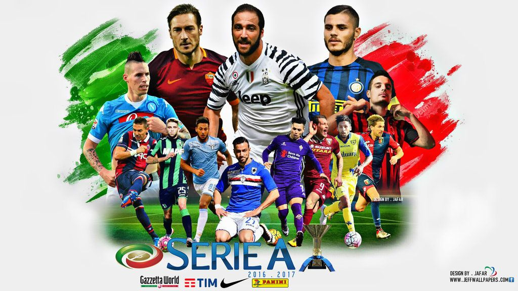 Serie A 2016 Wallpapers By Jafarjeef Deviantart Com On Deviantart Palermo As Roma Napoli