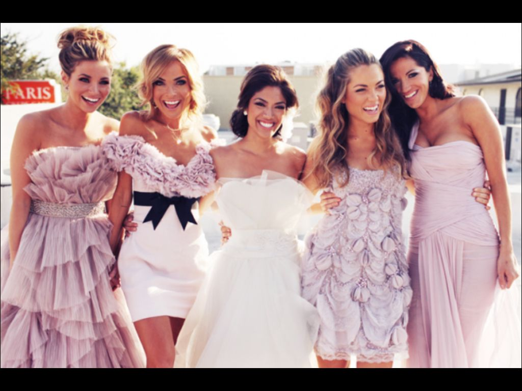 Pin by liesel de kock on wedding bridesmaids dresses pinterest different bridesmaid dress for each girl based on what style looks good on her body type but all in the same color i love this idea ombrellifo Image collections