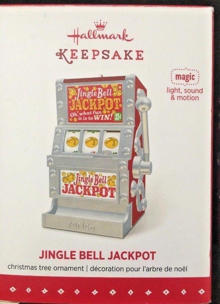 Hallmark 2015 Ornament Jingle Bell Jackpot W Lights