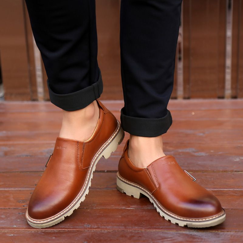 Mens Oxford Shoes 2017 Genuine Leather Fashion Dress Office Luxury