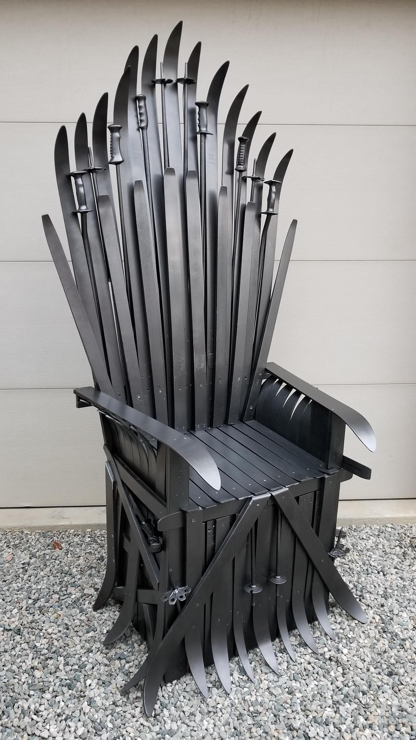 Winter Is Coming So I Made A Got Quot Iron Throne Quot Out Of
