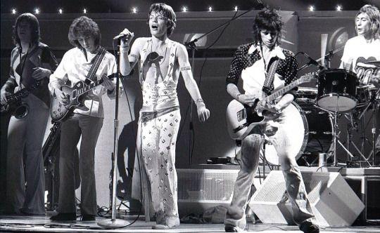 the Rolling Stones performing live onstage in Honolulu, Hawaii, c. 1972