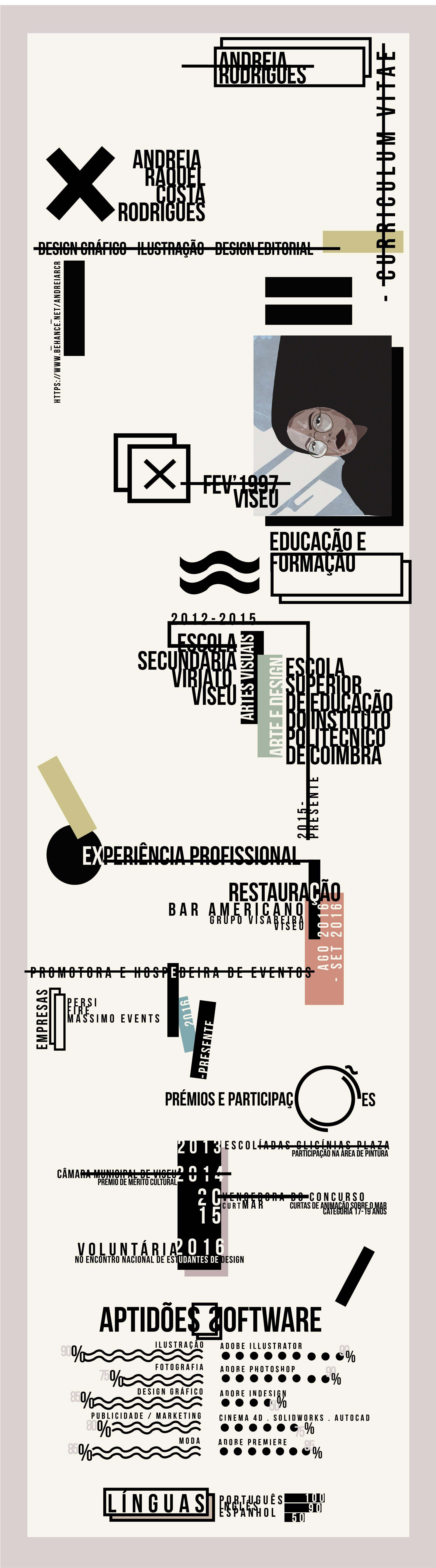 Two page Curriculum Vitae (graphic designer, illustrator and ...