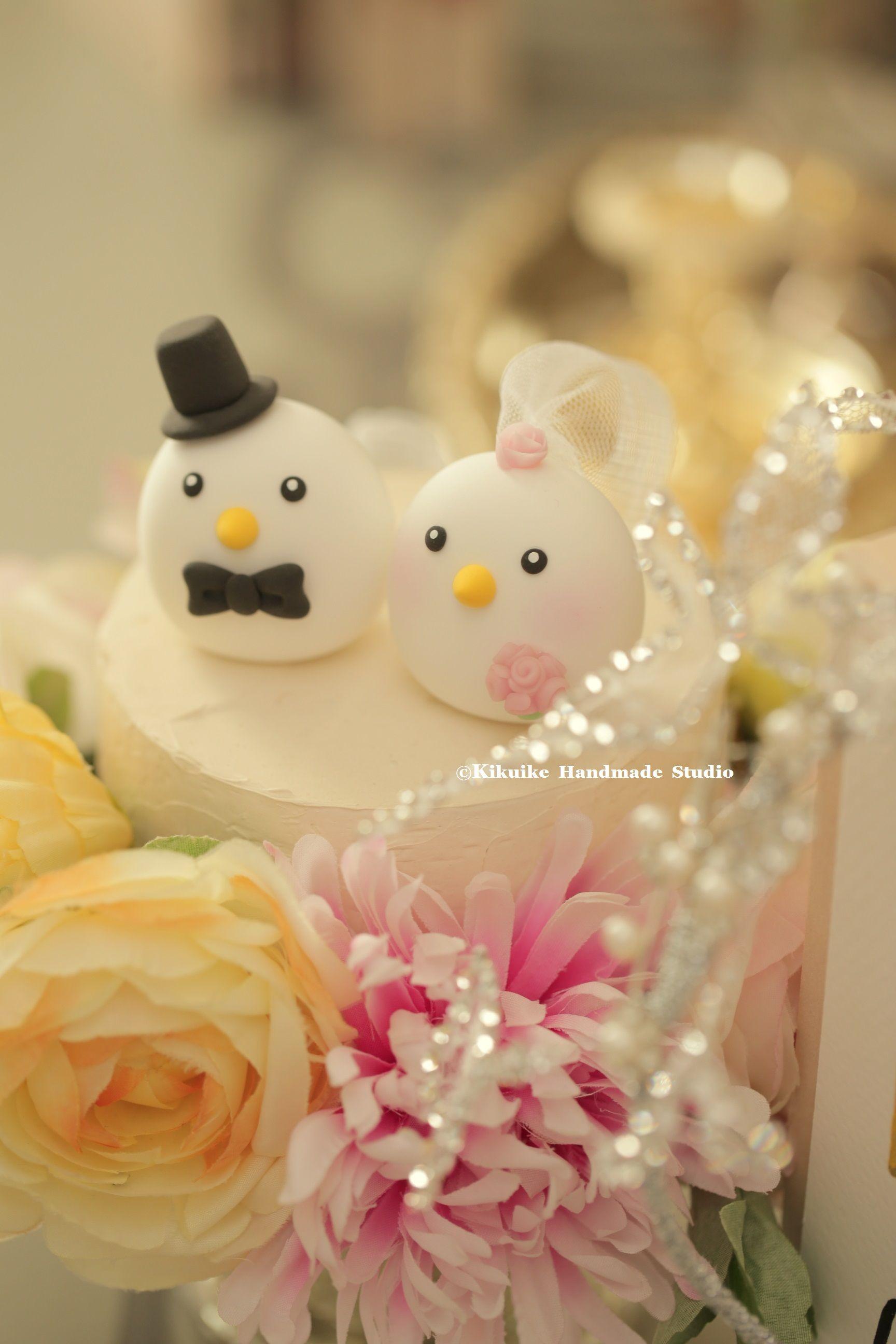 Love birds wedding cake topper | MochiEgg cake topper | Pinterest ...
