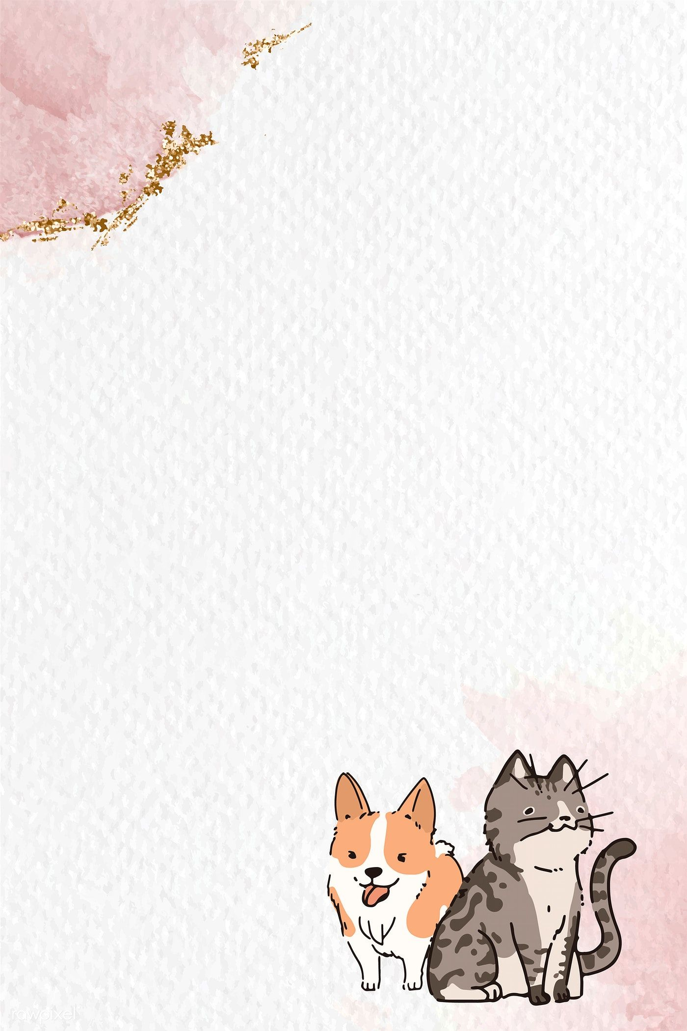 Dog And Cat Lover Pattern Background Template Vector Premium