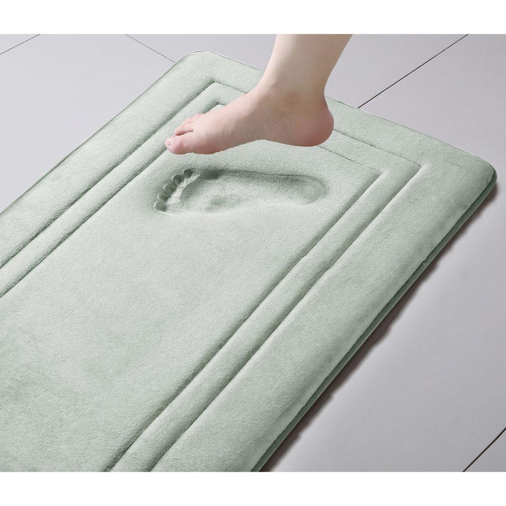 Soft and Plush Off-White Memory Foam Bath Rug with Anti Slip Backing ...