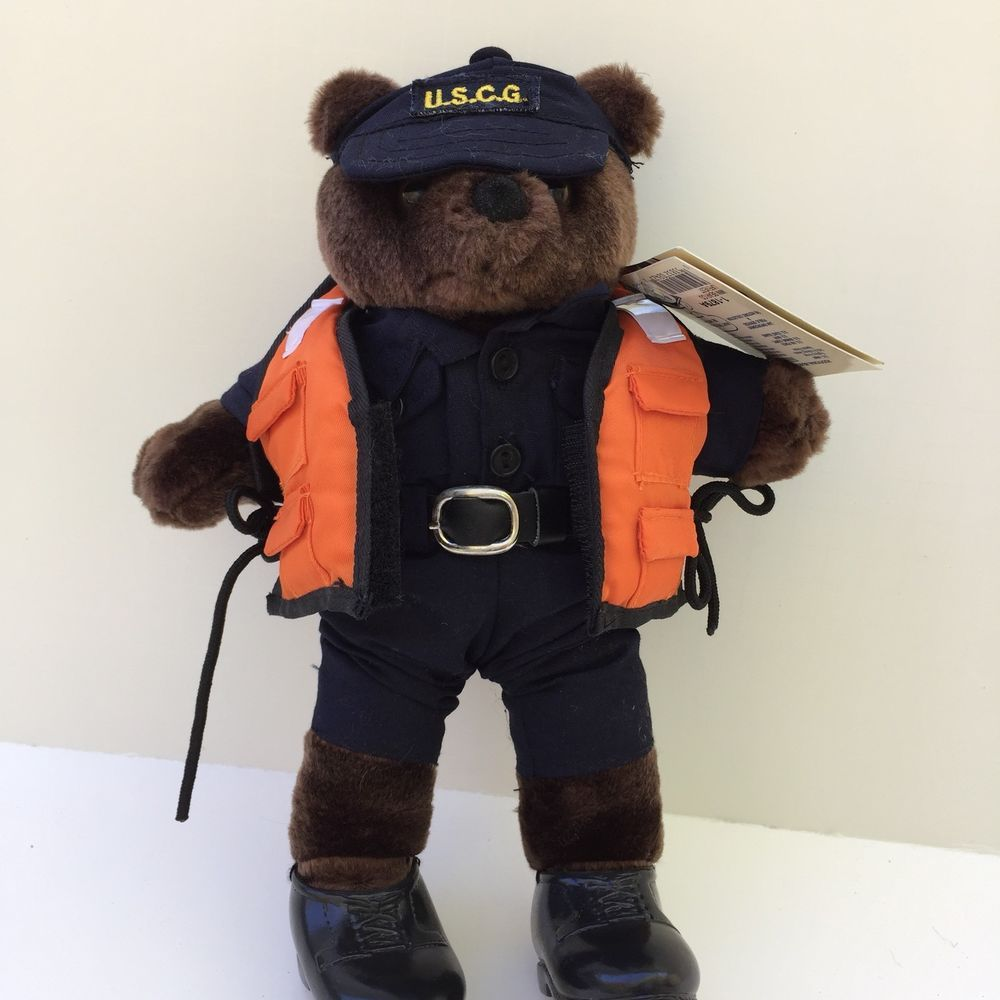 Bear Forces Of America United States Coast Guard Plush Teddy In Life Vest Uscg Iragreenbearforces Green Bear Life Vest Coast Guard [ 1000 x 1000 Pixel ]