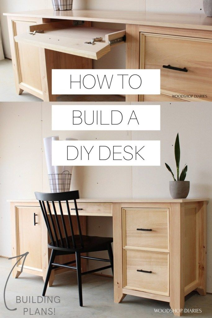 How to Build a Computer Desk --{Using 2x4s and Ply