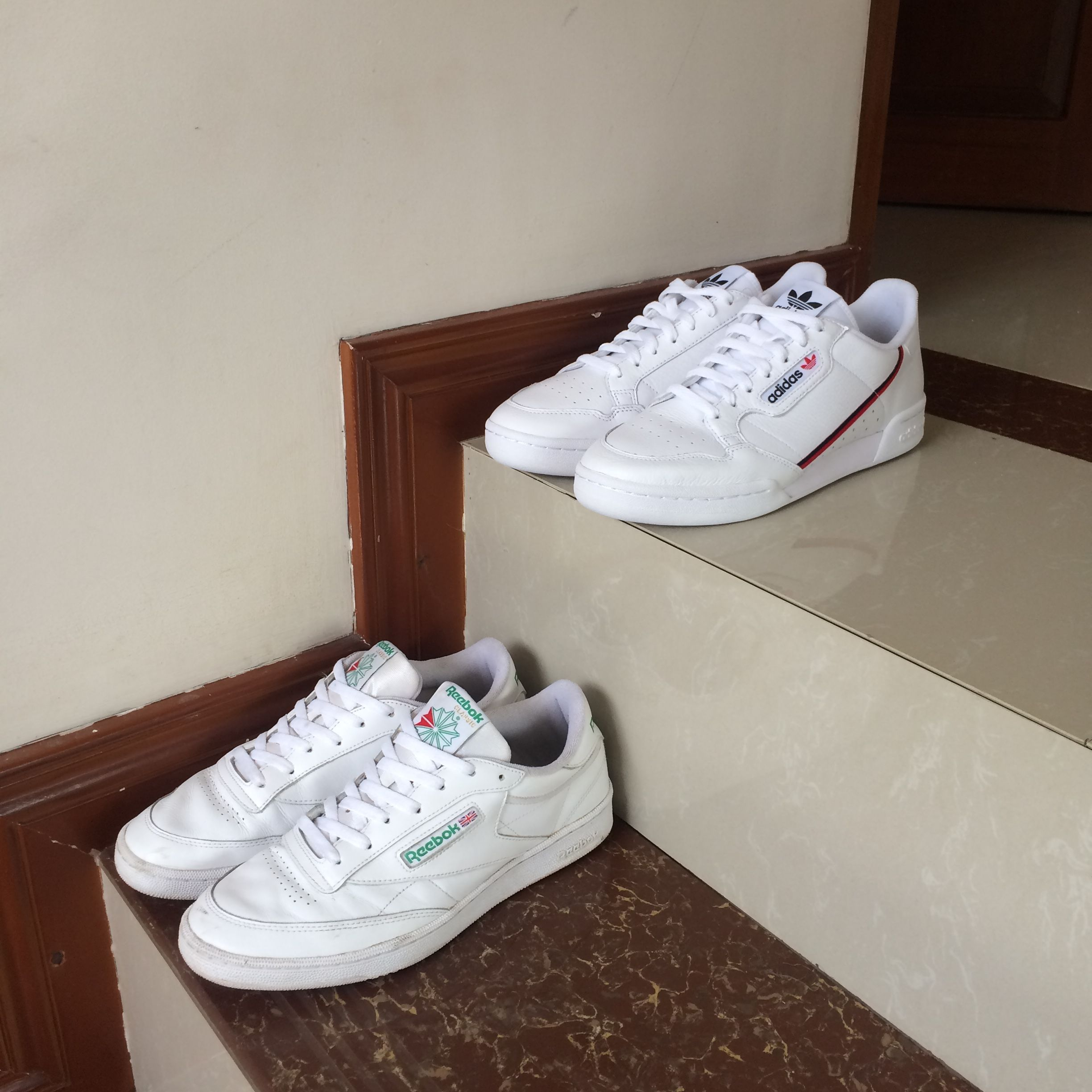 pretty nice 20e18 af3ed Adidas Continental 80 and Reebok Club C