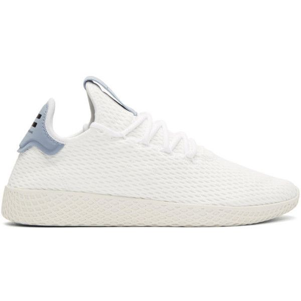 8feefc8f3 adidas Originals x Pharrell Williams White and Blue Tennis Hu Sneakers  (6.565 RUB) ❤