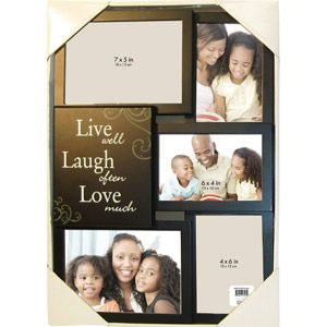 5 Opening Live Laugh Love Collage Picture Frame Black Ideas For