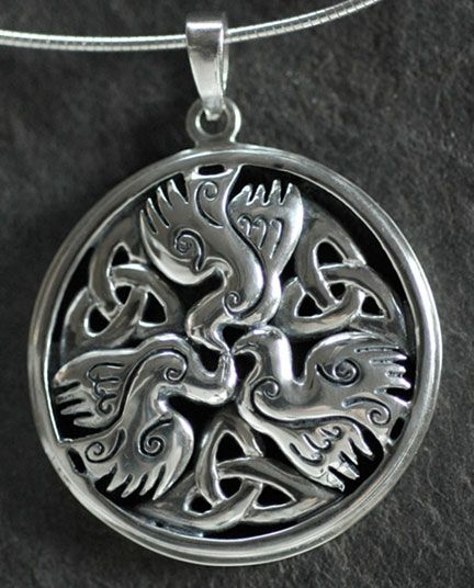 Celtic doves peace large sterling silver celtic pendant by jen celtic doves peace large sterling silver celtic pendant by jen delyth large mozeypictures Gallery