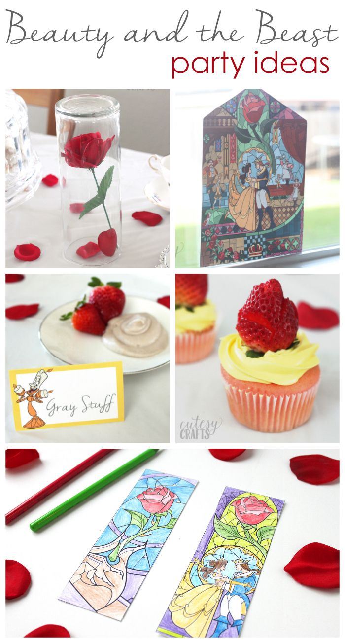 Easy Beauty And The Beast Party Ideas CrAfTy 2 ThE CoRe