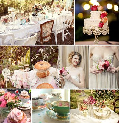 Tea Party Themed Bridal Shower Inspiration Board From Www
