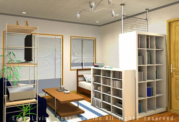 ワンルーム8畳レイアウト 8畳 レイアウト 小さな部屋のインテリア 模様替え 部屋