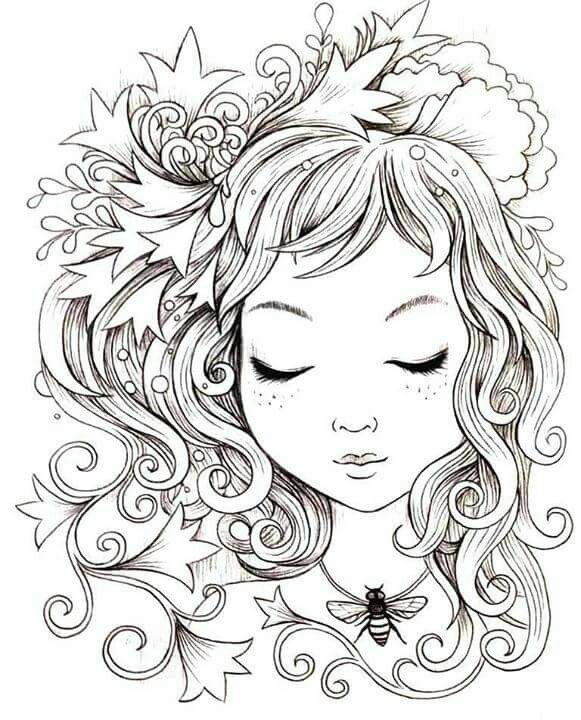 Honey Bee Colouring Page By Jeremiah Ketner Adult Coloring Pages