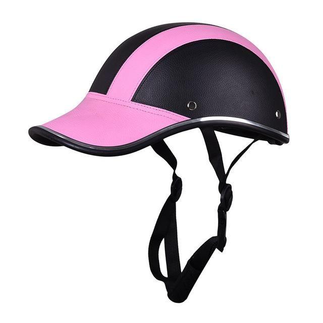 Motorcycle Protective Helmet 55 60 Cm Baseball Cap Style Bike Scooter Safety Helmet Trivoshop In 2021 Baseball Caps Fashion Half Helmets Helmet