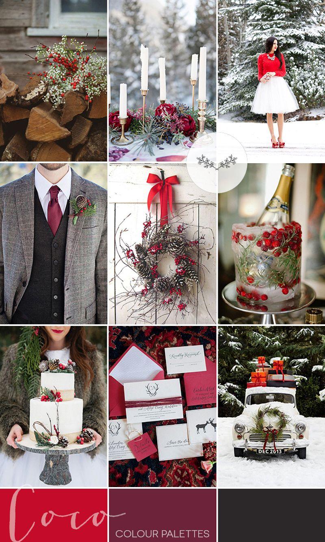 Berry Red Winter Wedding Inspiration