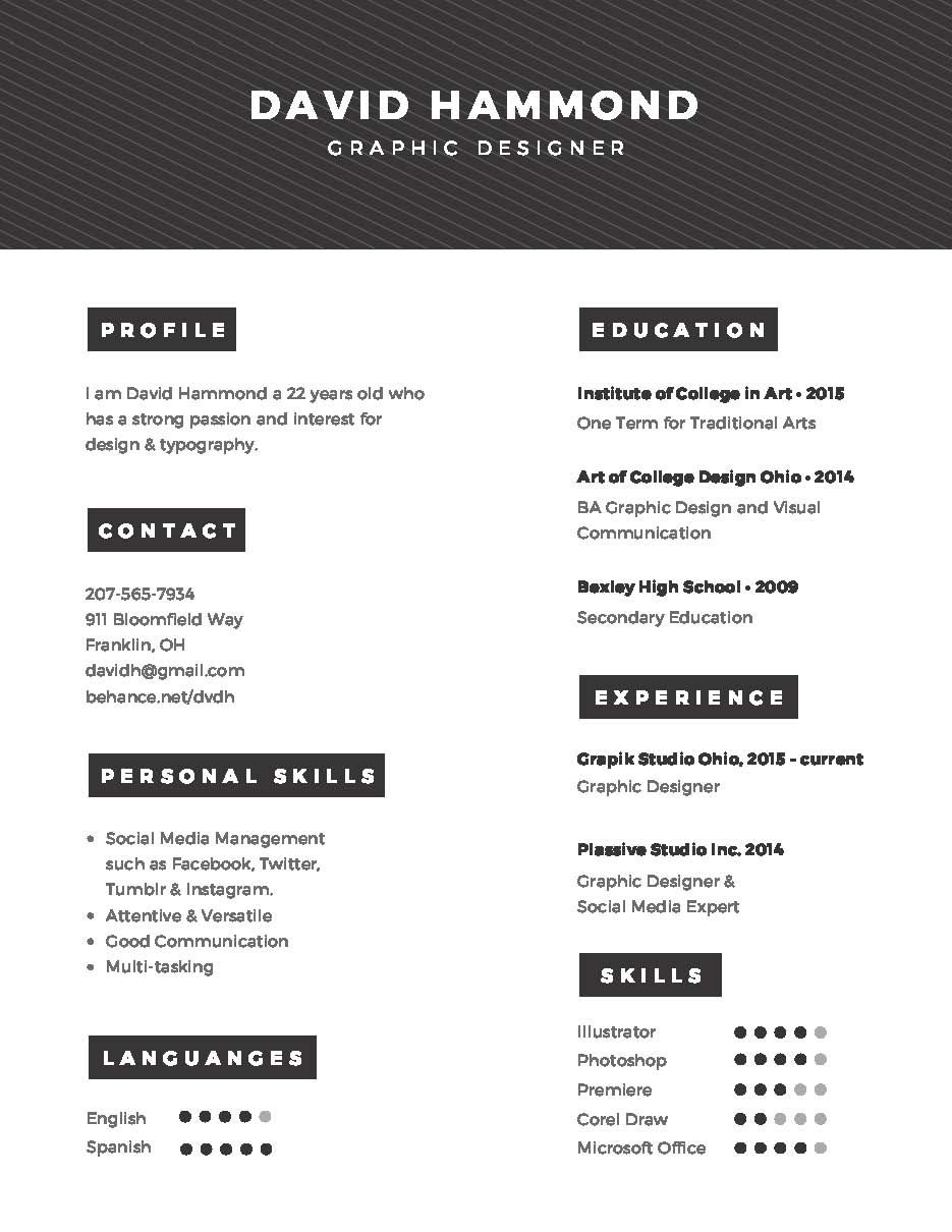 Design your Resume https://www.fiverr.com/s2/c2d6a10cda | Designer ...