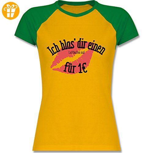 JGA Junggesellinnenabschied - Ich blas dir einen Luftballon auf - zweifarbiges  Baseballshirt / Raglan T-Shirt für Damen: Shirtracer: Amazon.de: Bekleidung