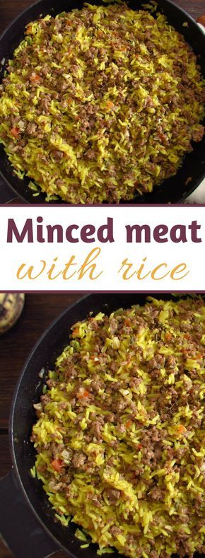 Minced Meat With Rice Recipe Minced Meat Dishes Easy Meat