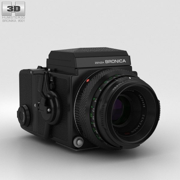 3d Model Of Zenza Bronica Etrs Fuji Camera Best Camera Camera