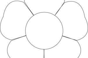 Aecdeabdfa New 5 Petal Flower Template Free Printable | Flower template, Flower templates ...
