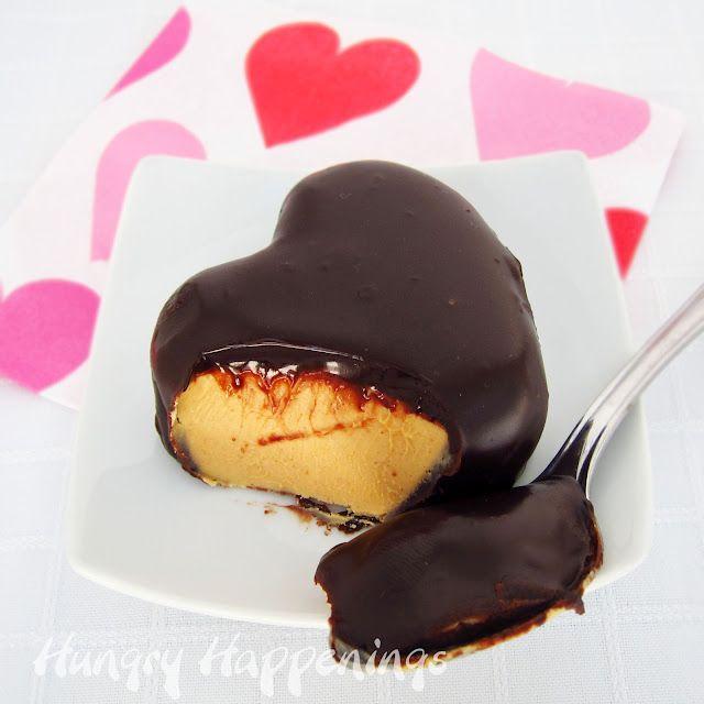 Fudgy Peanut Butter Hearts