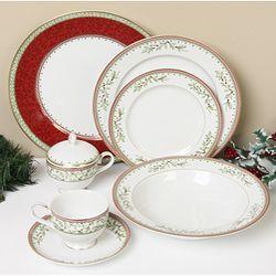@Overstock.com - Mikasa Holiday Traditions 45-piece Dinnerware Set - Add a & Overstock.com - Mikasa Holiday Traditions 45-piece Dinnerware Set ...