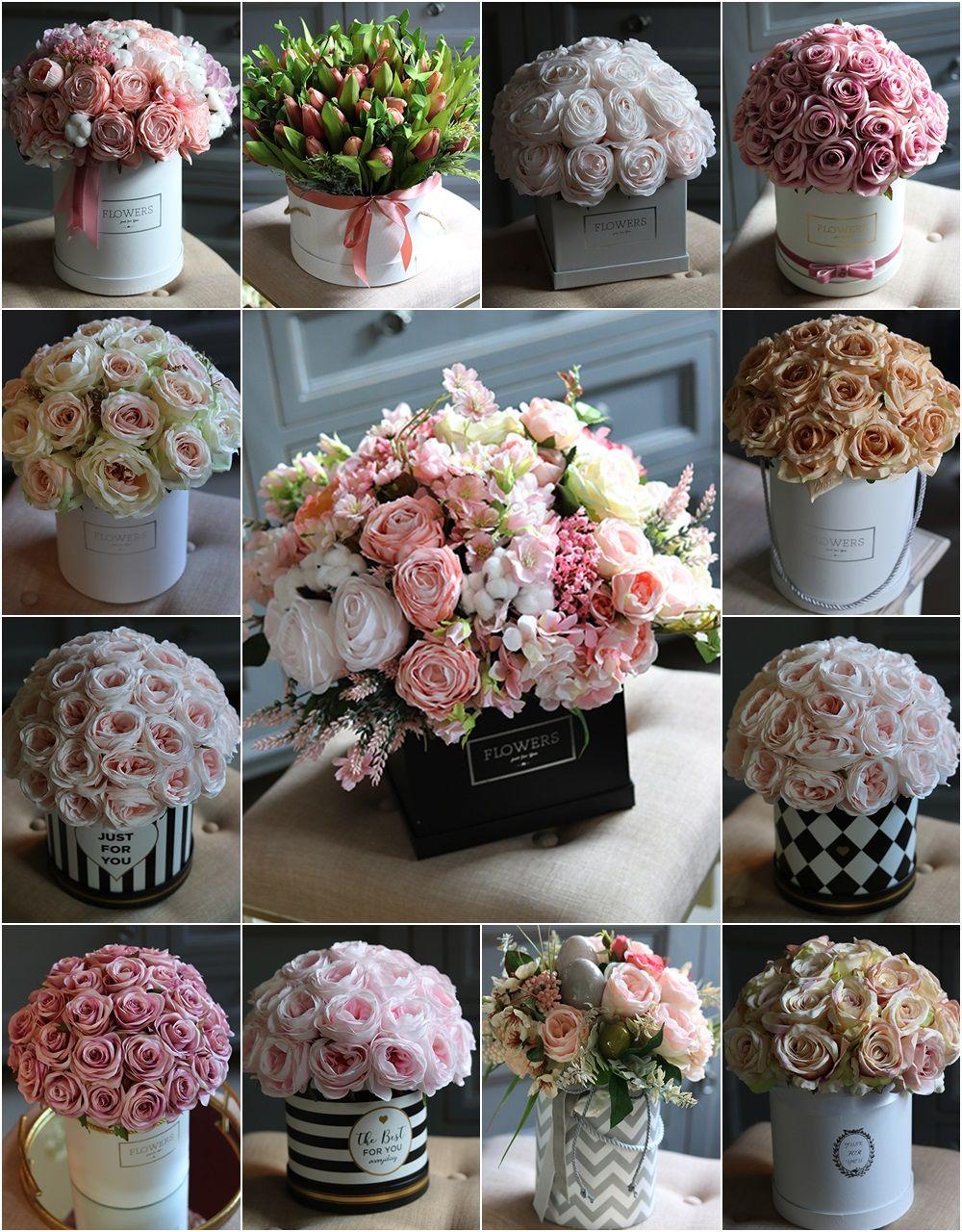 Pin By Katarzyna Sobczyk On Silk Flowers Flower Boxes Fabric Flowers Silk Flowers