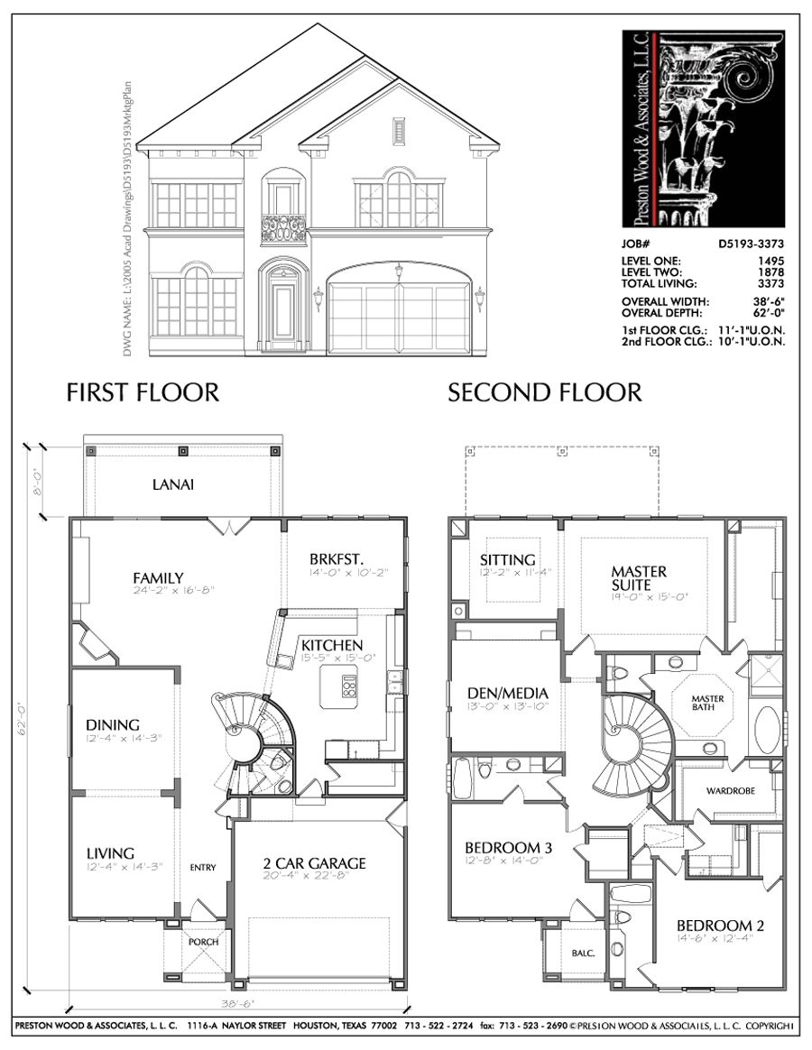 2 story floor plans with dimensions thefloors co for House plans with dimensions