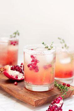 Festive Pomegranate Pink Lemonade Punch Recipe