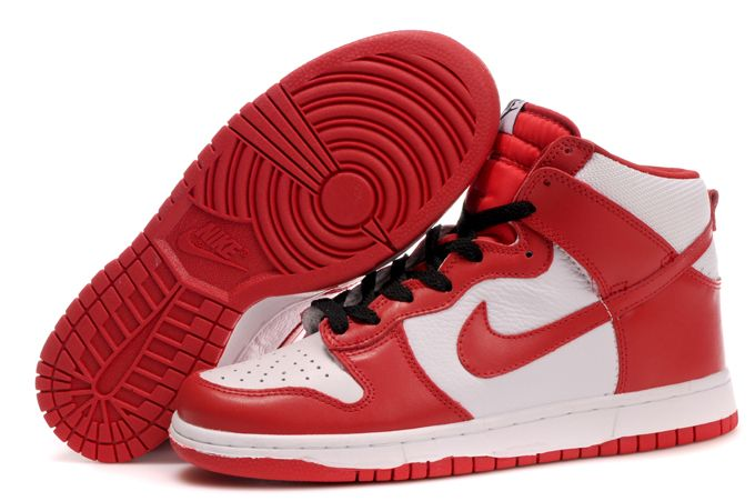 half off ad7c3 baa40 Nike Dunk High Spring 2010 Pack Red White